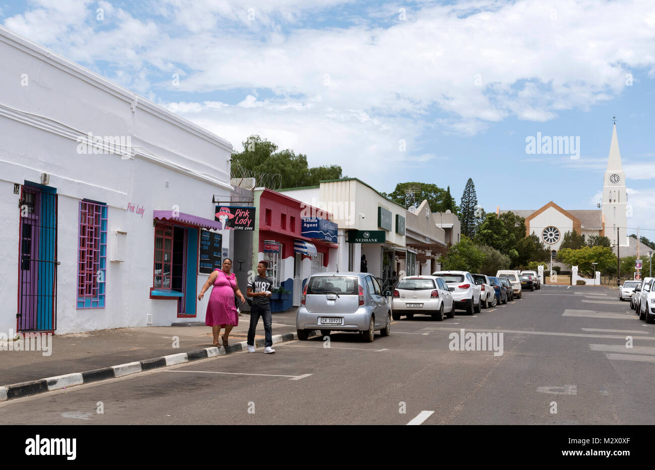 The NG Kerk en Yzerfontein church in the town centre of Darling in the Western Cape region of South Africa - Stock Image