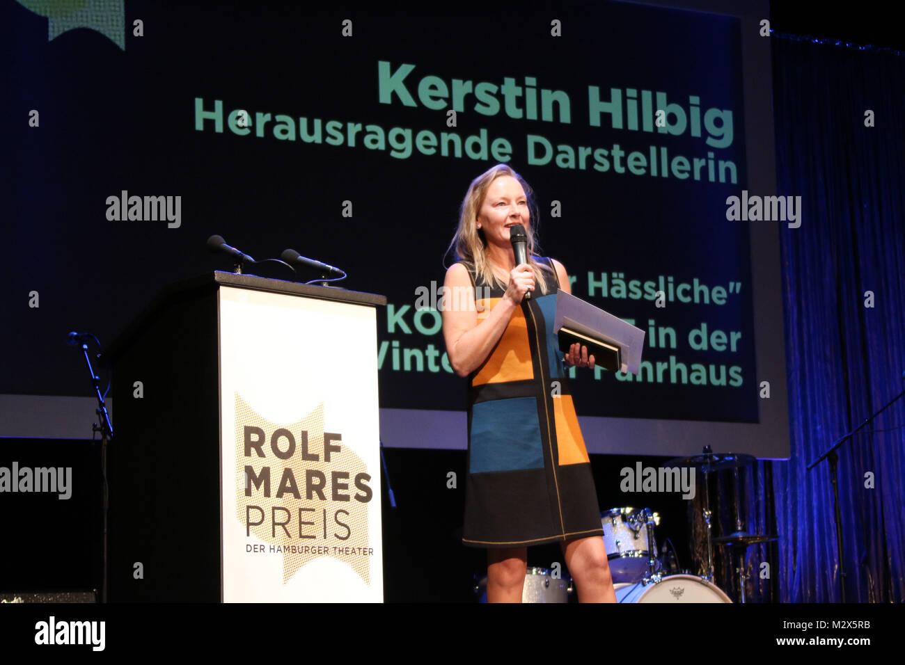 Meike Harten & Kerstin Hilbig, Rolf Mares Preis 2014, Kammerspiele Hamburg, 27.10.2014 - Stock Image