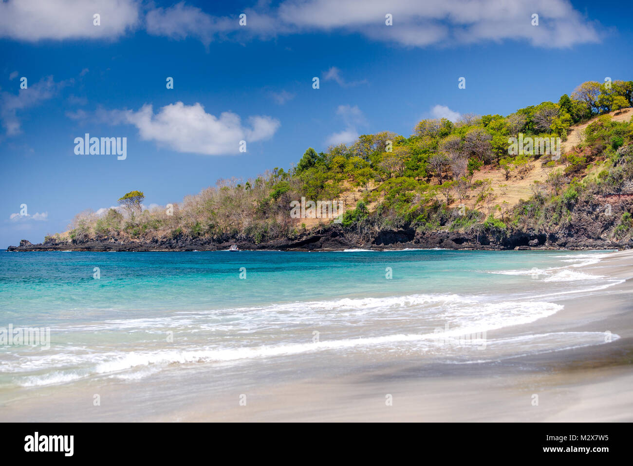Deserted Bali beach - Bias Tugel Beach Stock Photo