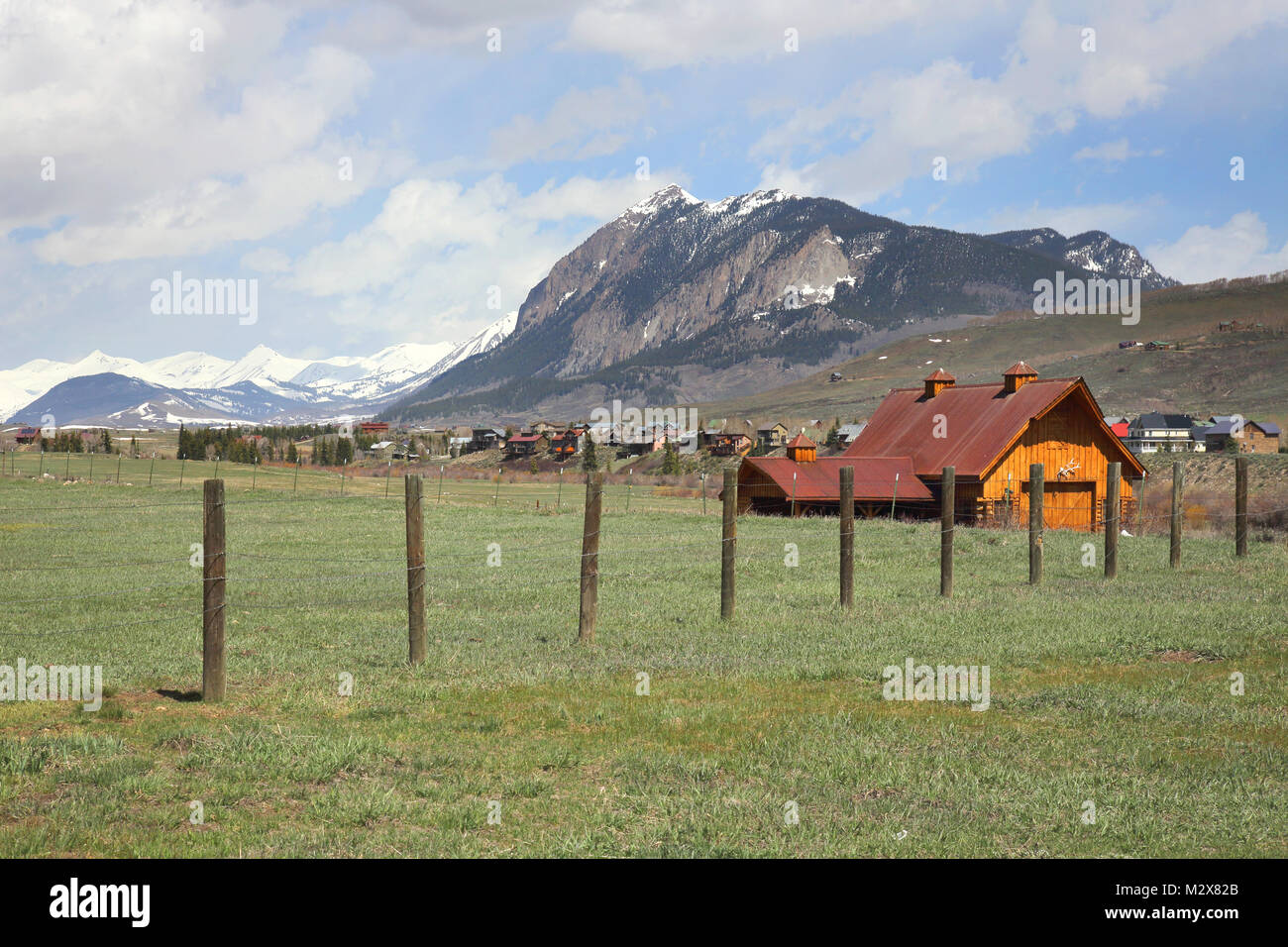 the ski resort of crested butte colorado - Stock Image