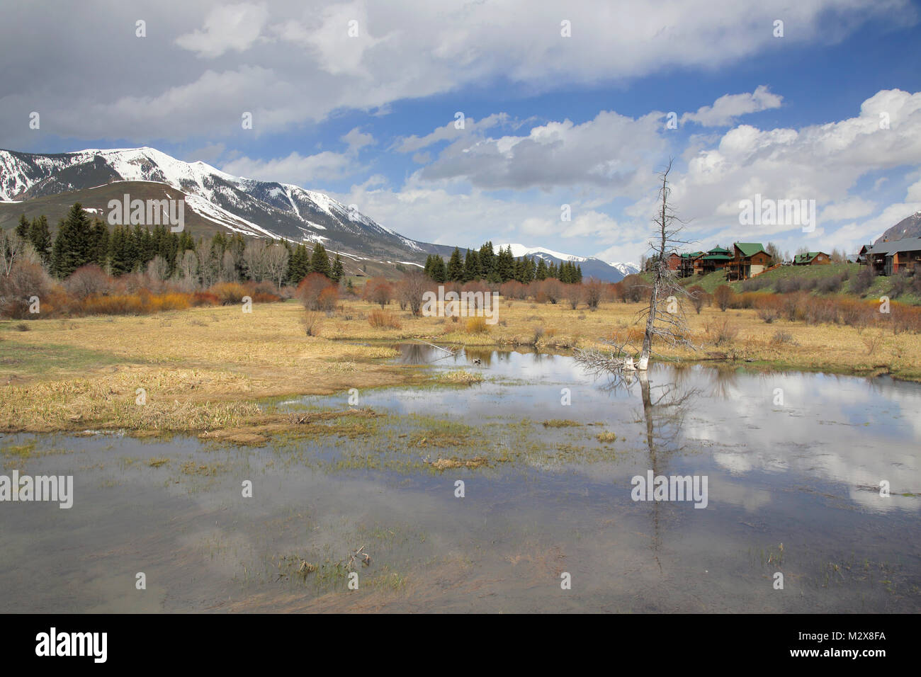 crested butte south colorado - Stock Image