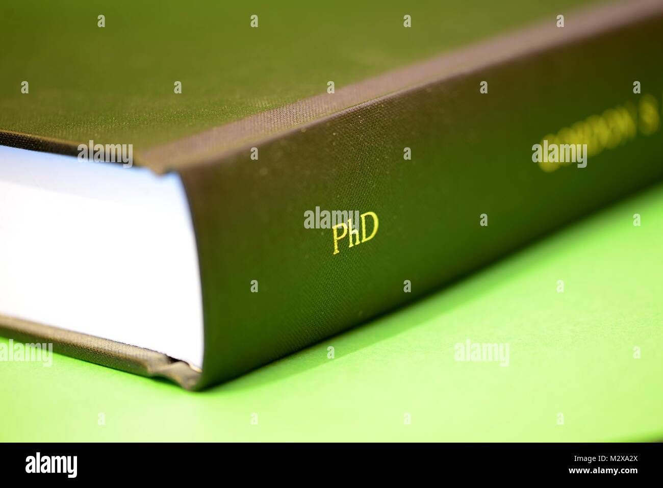 Completed PhD Dissertation Thesis Stock Photo