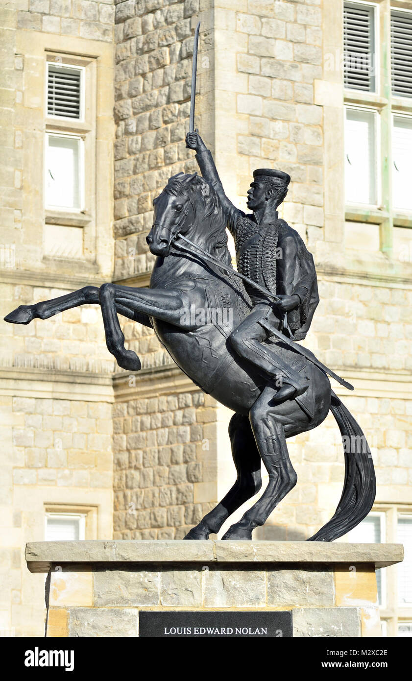 Maidstone, Kent, England. Memorial to Capt. Louis Edward Nolan (1818-1854) of the 15th King's Hussars. Died - Stock Image