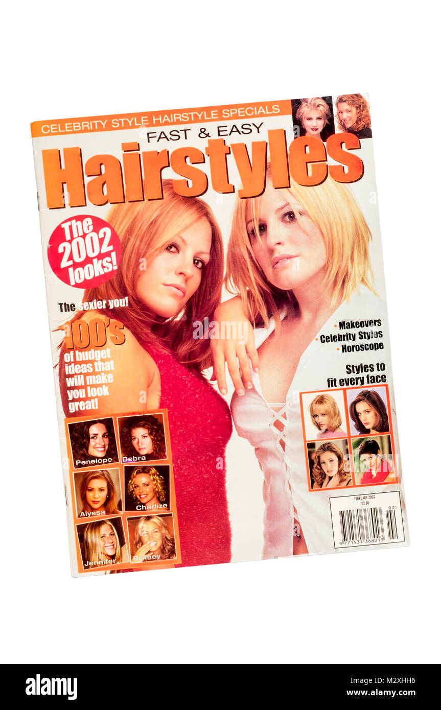 February 2002 edition of Fast & Easy Hairstyles Magazine - Stock Image