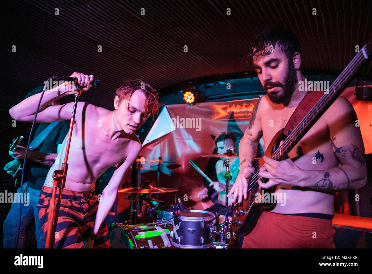 Barcelona, Spain. February 2, 2018. Concert by Kitai in Sidecar. Photographer: © Aitor Rodero. - Stock Image