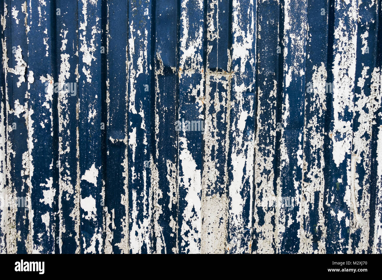 Distressed blue and white background - Stock Image