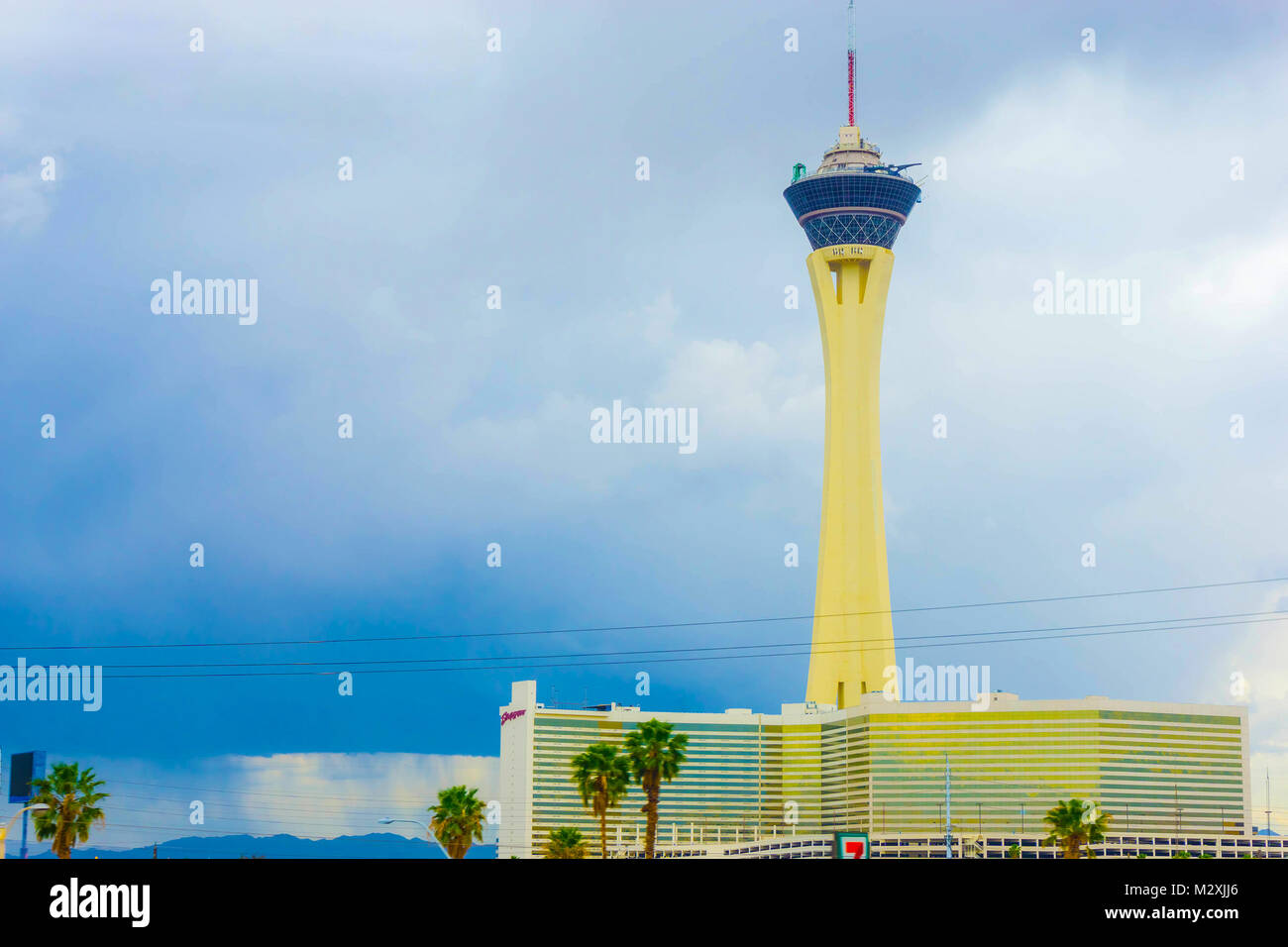 Las Vegas, United States of America - May 07, 2016: Stratosphere Hotel and Casino on the Las Vegas Strip, - Stock Image