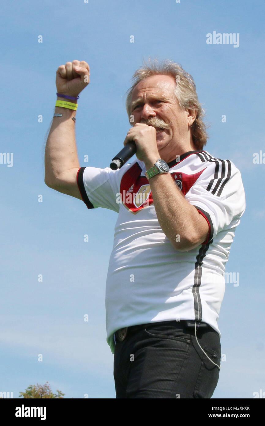 Die Hoehner, Empfang der deutschen Fussballmannschaft nach dem Gewinn des Weltmeistertitels auf der Fanmeile in - Stock Image