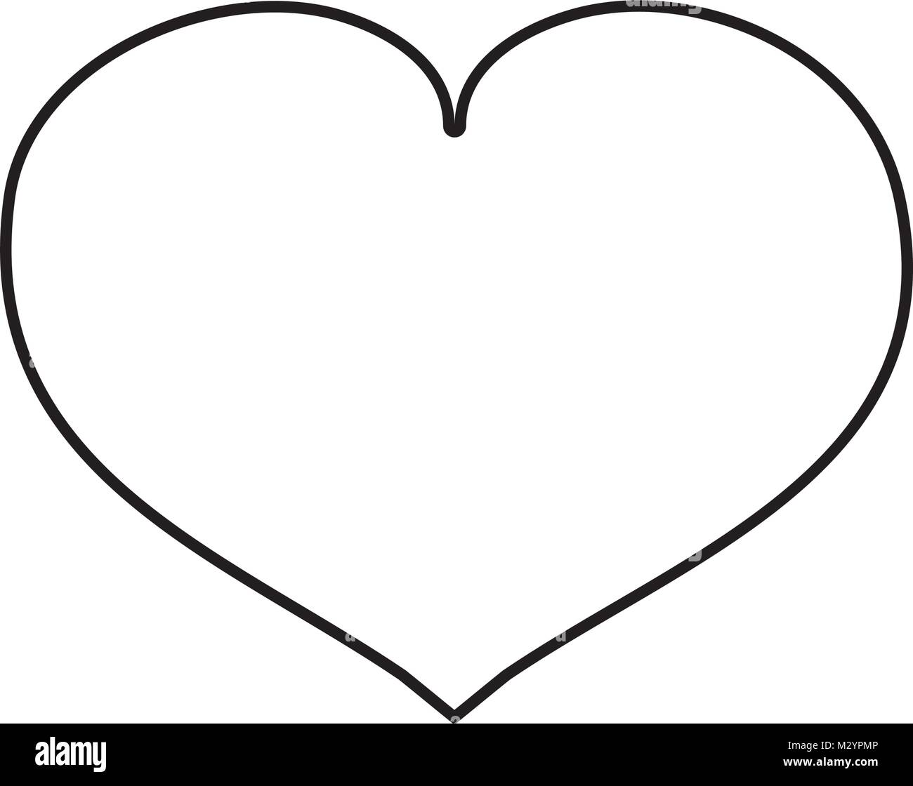 line heart love symbol of passion - Stock Image