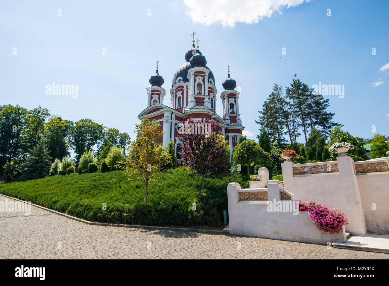 The orthodox monastery of Curchi, Moldova - Stock Image