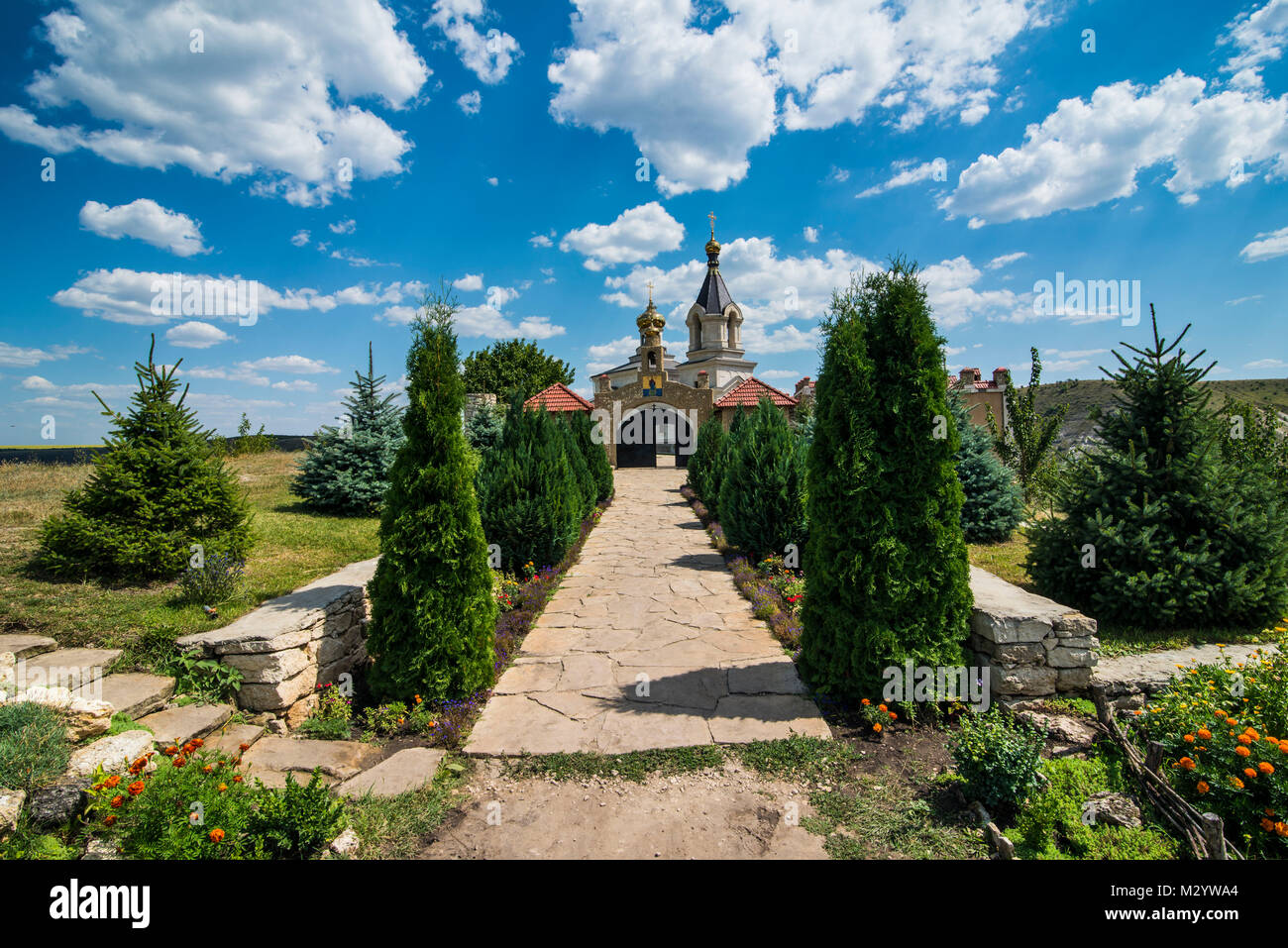 the old temple complex of  old Orhei or Orheiul Vechi,  Moldova, Eastern Europe - Stock Image