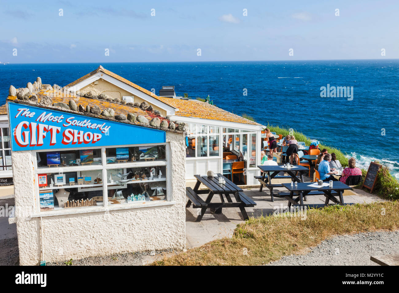 England, Cornwall, The Lizard, The Most Southerly Gift Shop and Cafe - Stock Image
