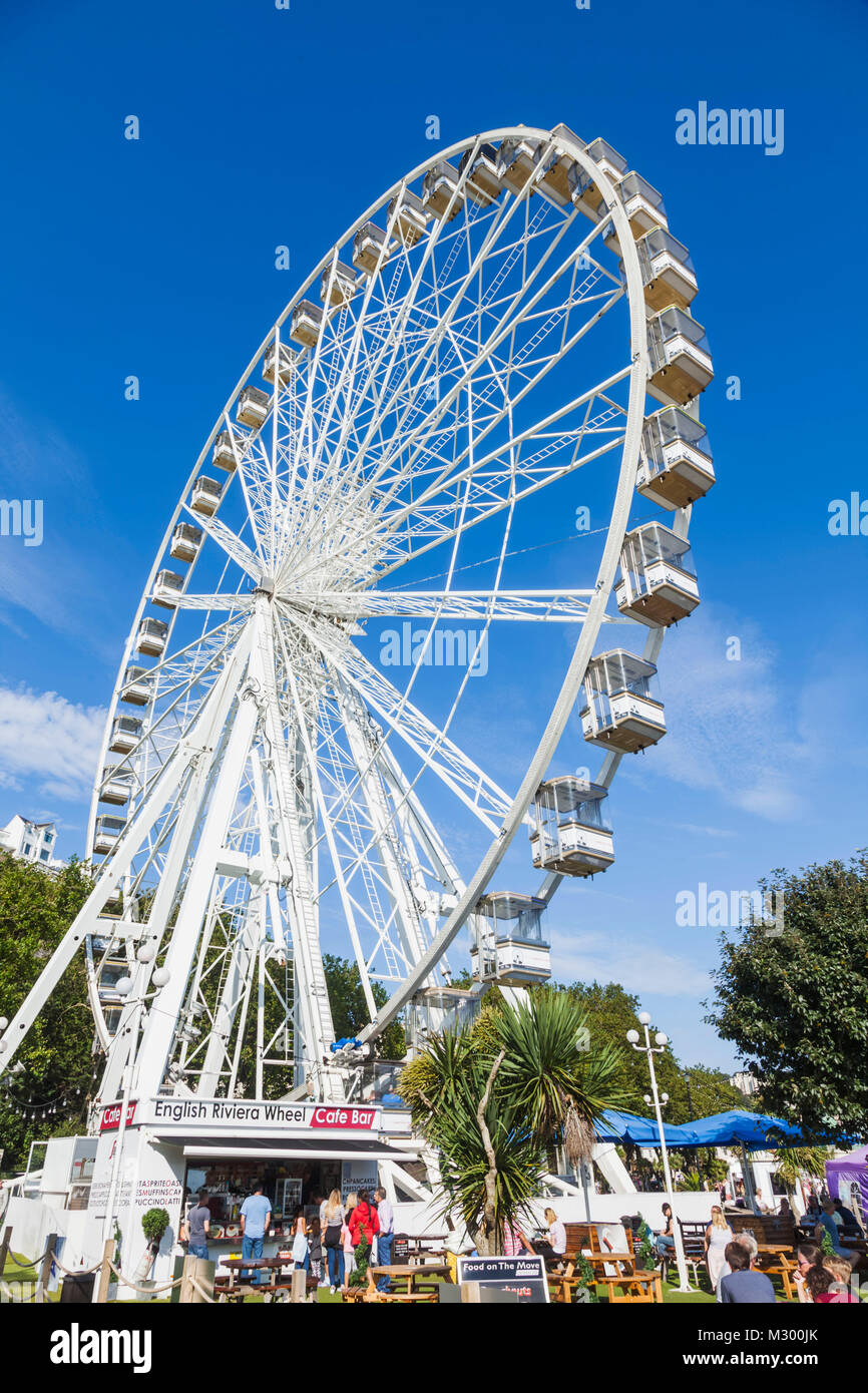 England, Devon, Torquay, The English Riviera Wheel - Stock Image