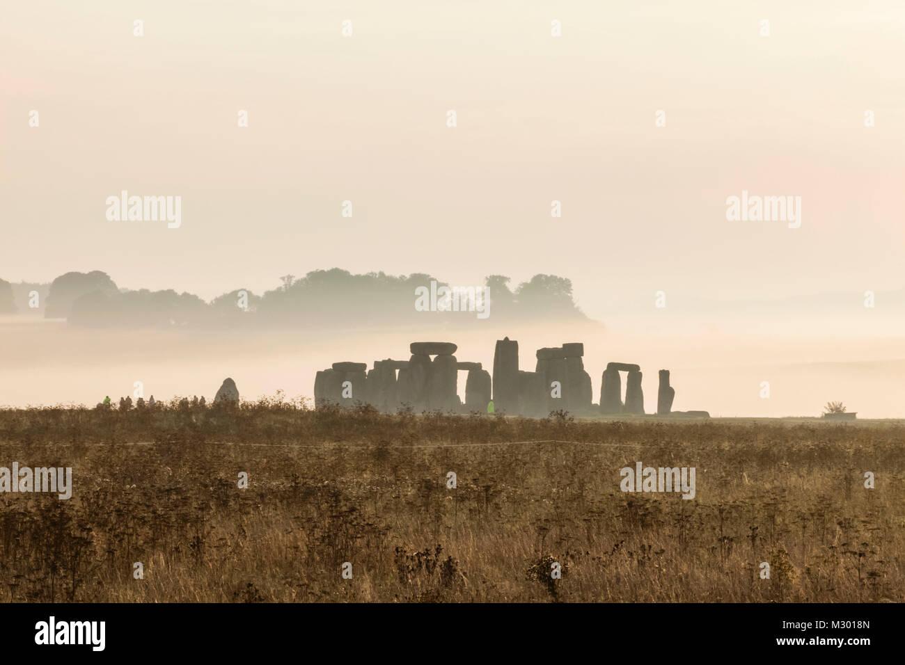 England, Wiltshire, Stonehenge Stock Photo
