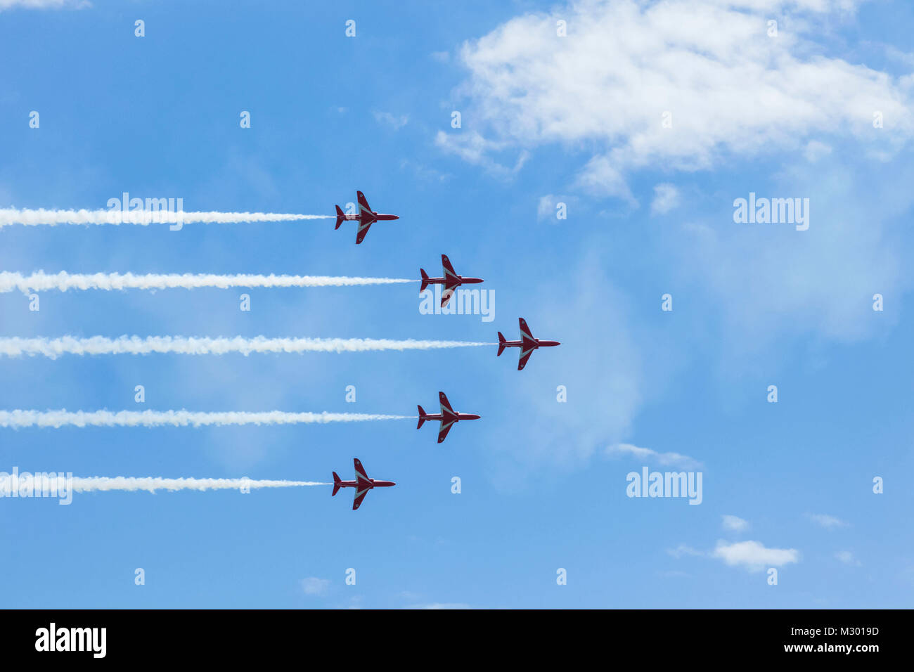 England, East Sussex, Eastbourne, The Annual Airbourne Air Show, The Red Arrows - Stock Image