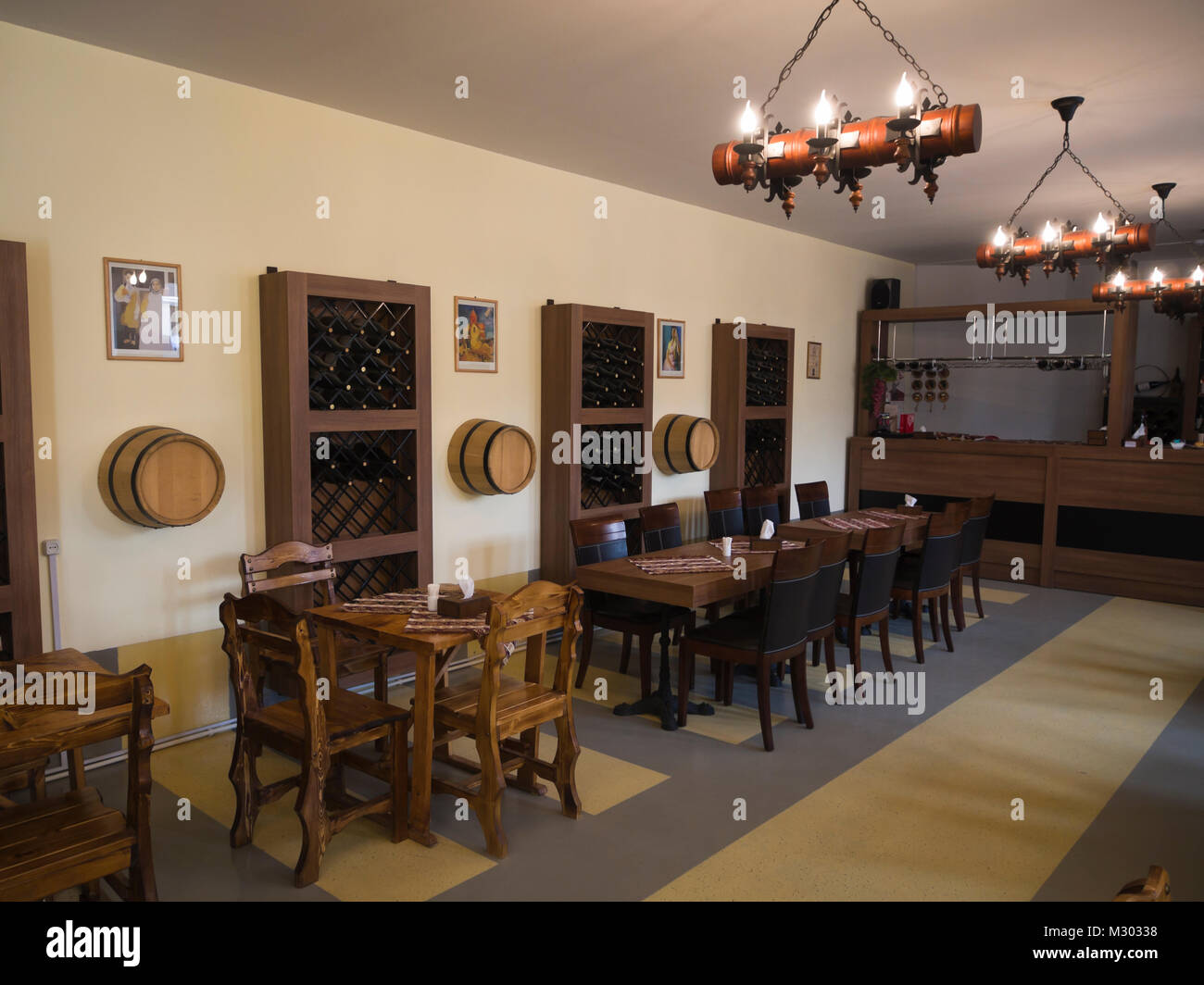 Wine production tasting room in Areni in southern Armenia at the Areni Wine Factory Stock Photo