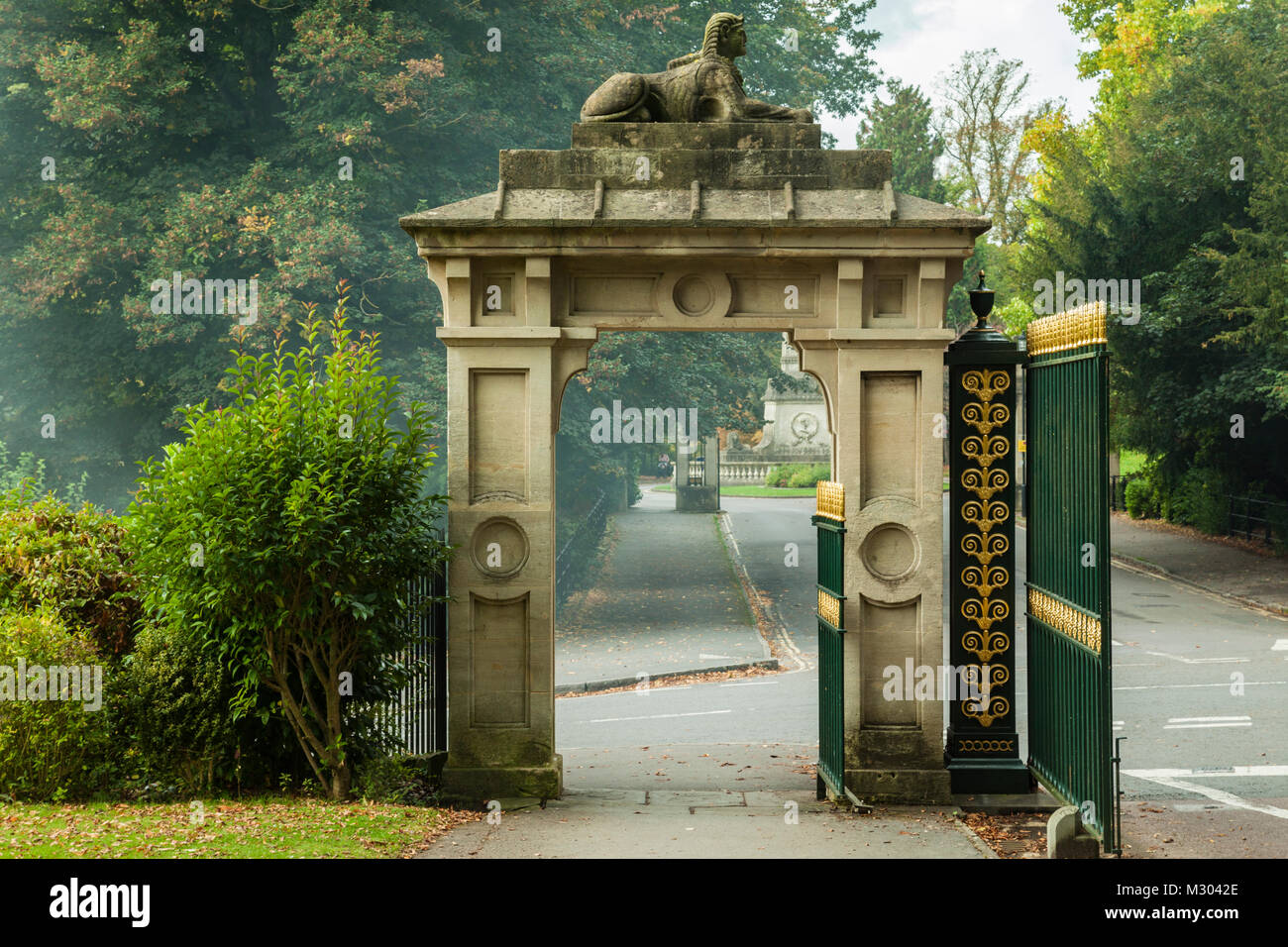 Gate in Victoria Park, Bath, Somerset, England. - Stock Image