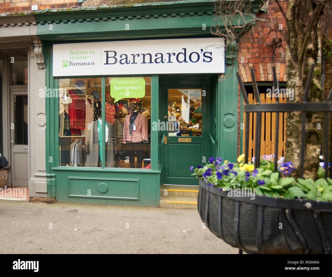 Barnardo's High Street Charity shop - Stock Image