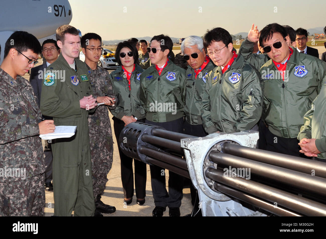 The assembly members toured static displays of U.S. A-10 by #PACOM - Stock Image