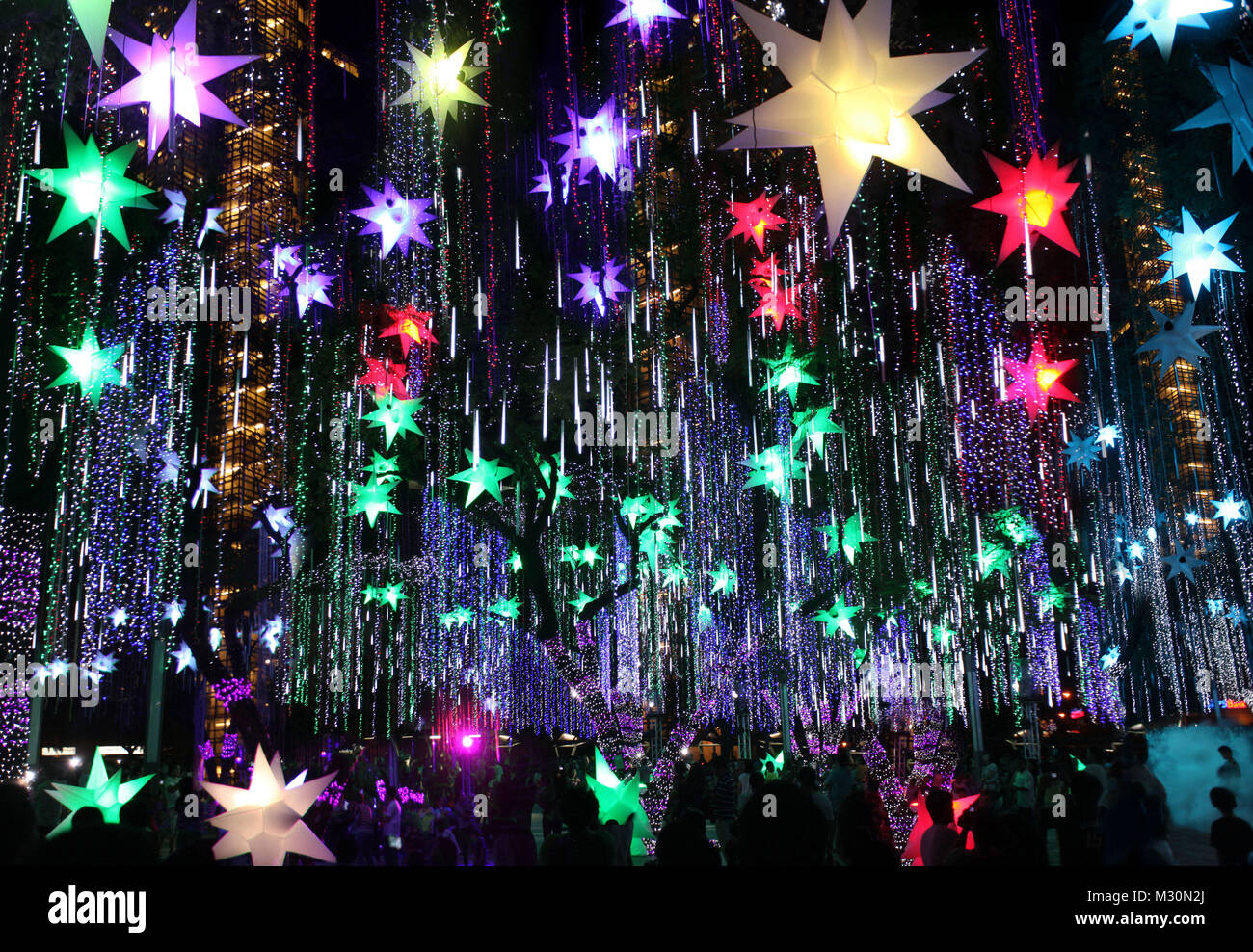 Christmas decoration in Manila, Luzon Island, Philippines, Asia - Stock Image