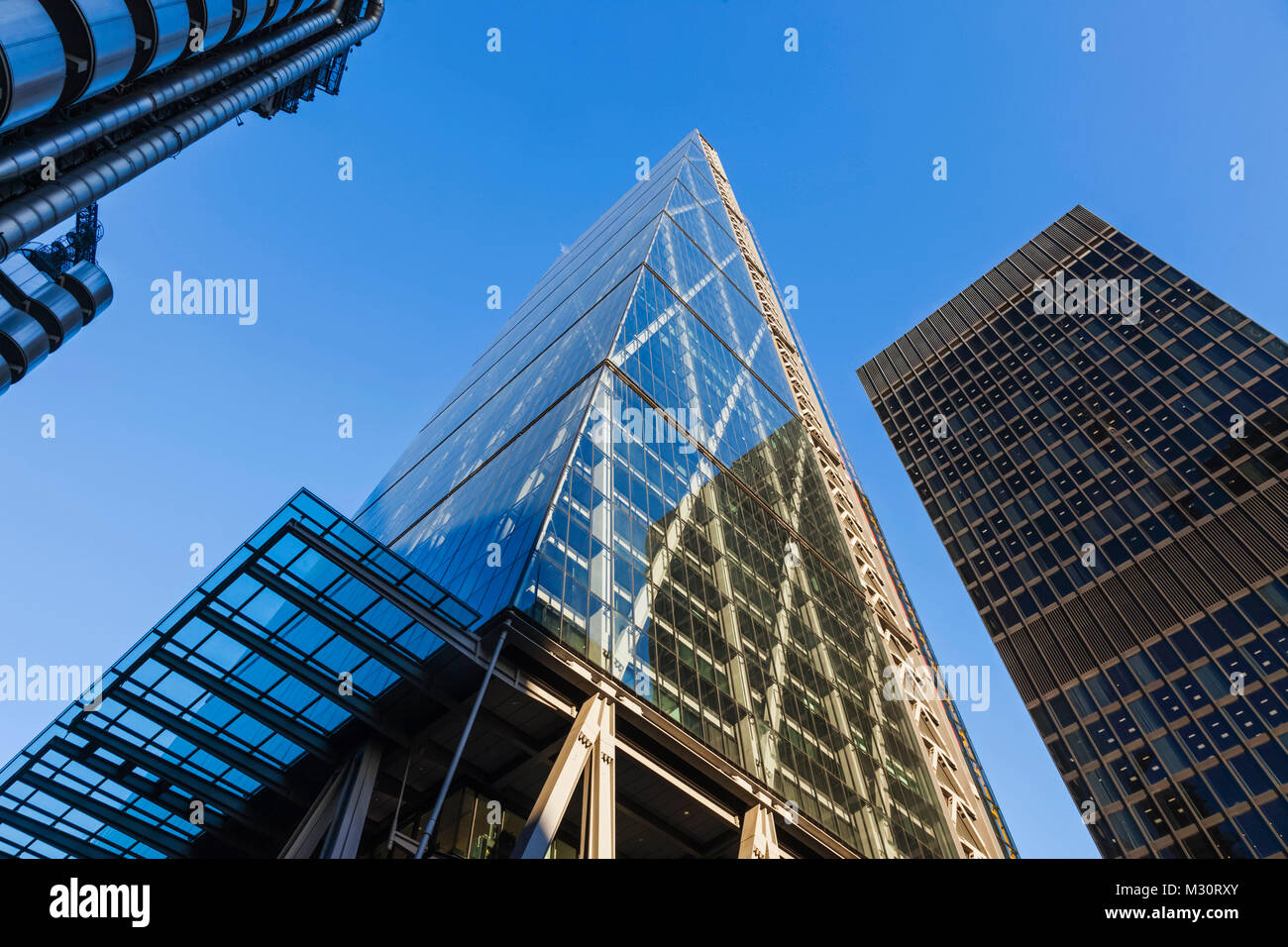 England, London, The City, Leadenhall Street, The Leadenhall Building aka The Cheesegrater - Stock Image