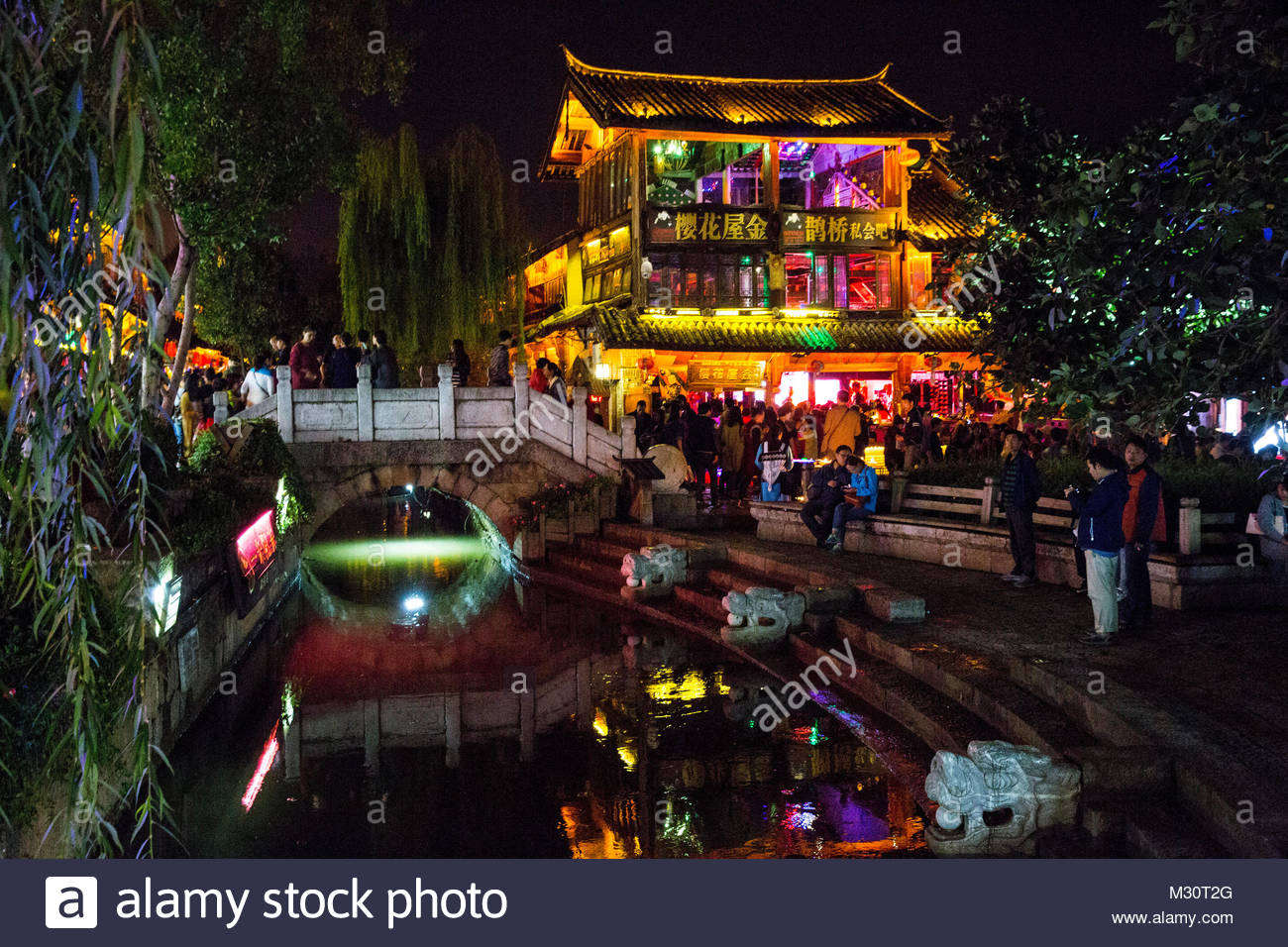 Street Photography of Lijiang Old Town, Yunnan Province, China - Stock Image