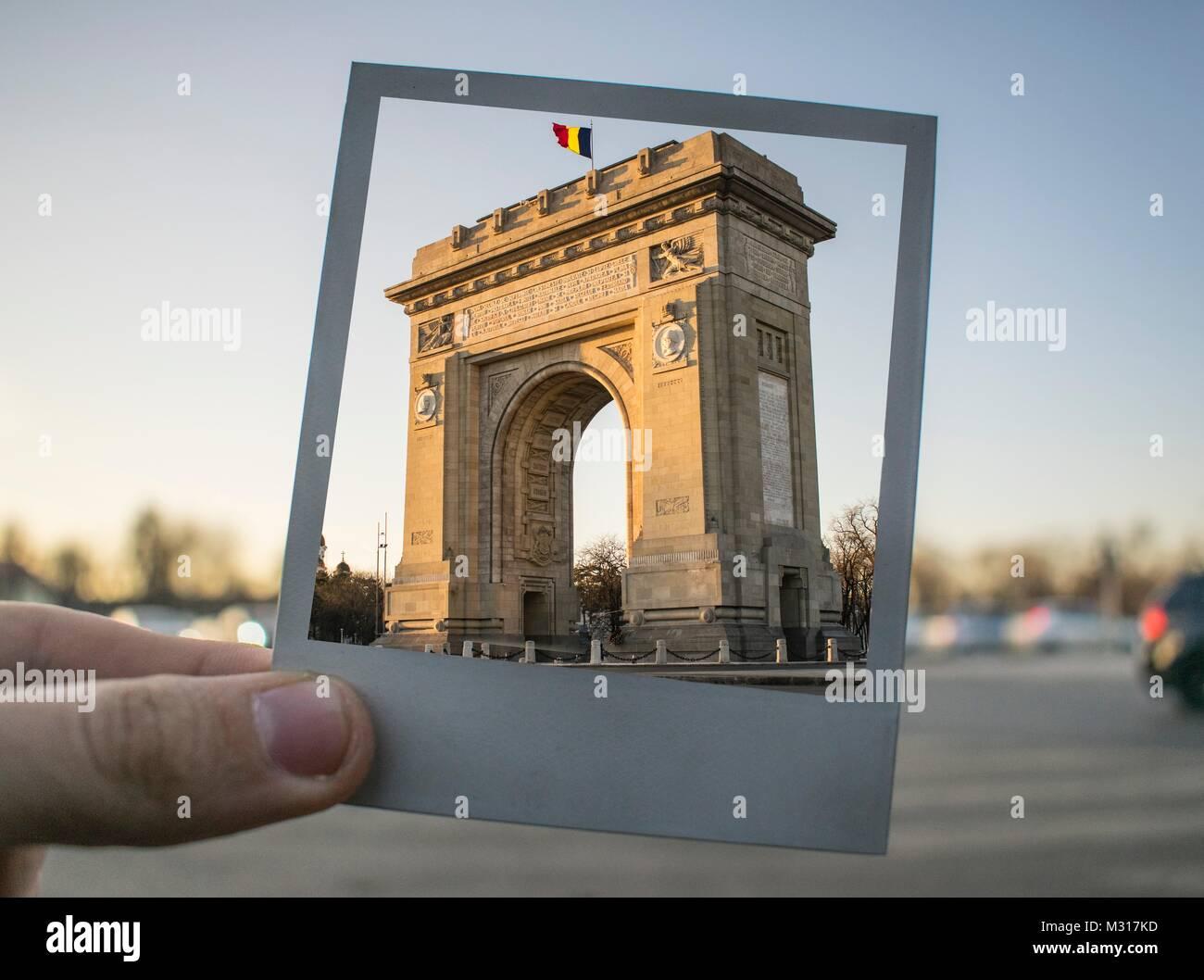 Cityscape shots of Bucharest Romania - Stock Image