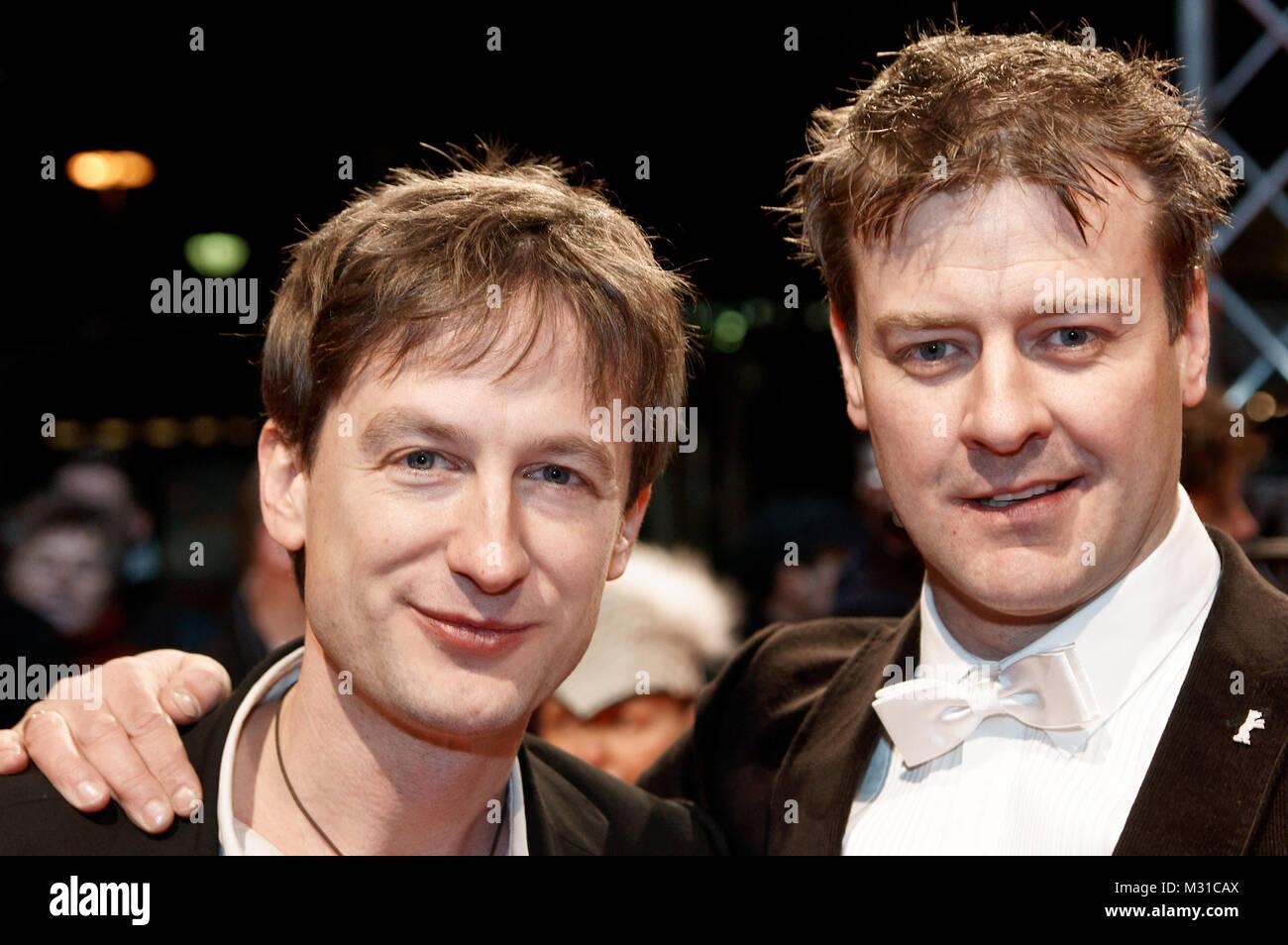 """Jan Henrik Stahlberg & Marcus Mittermeier bei der Weltpremiere zum  Film """"Short cut to Hollywood"""" im Berliner Zoo Stock Photo"""