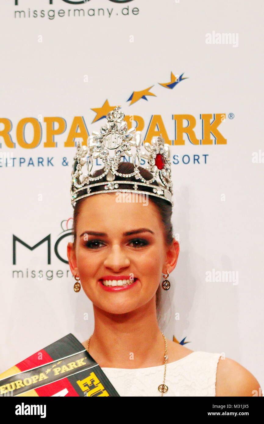 Die neue Miss Germany 2016: MISS WESTDEUTSCHLAND, 26 Jahre, 175 cm, Lehrerin, Dressurreiten, reisen, Misswahlen, - Stock Image