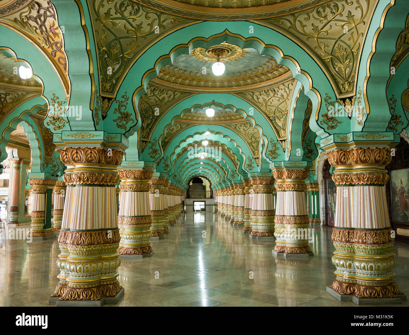 Interior Pillars Mysore Palace Interior Stock Photos Amp Mysore Palace