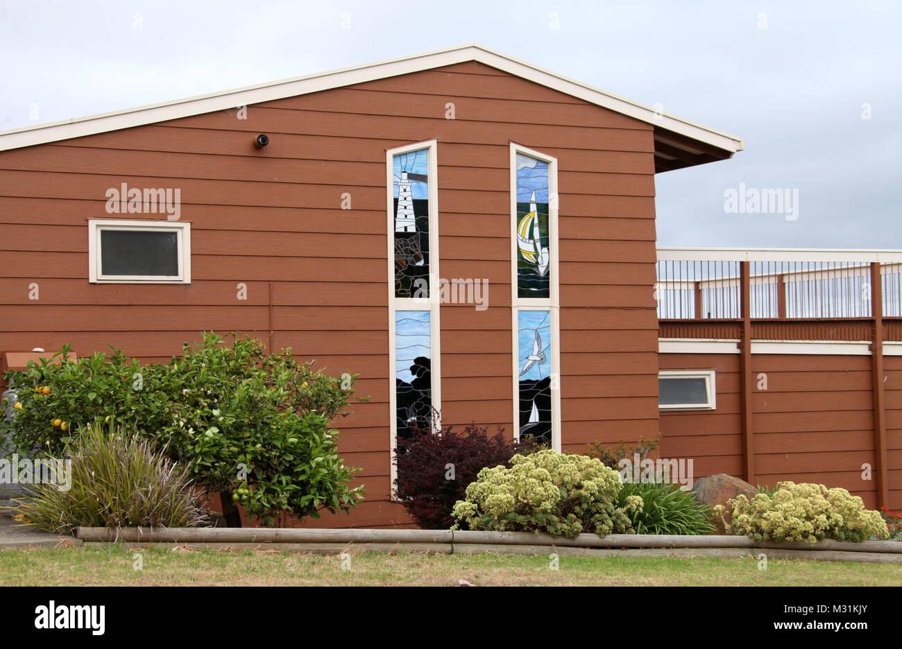 Coastal property on Kangaroo Island Stock Photo