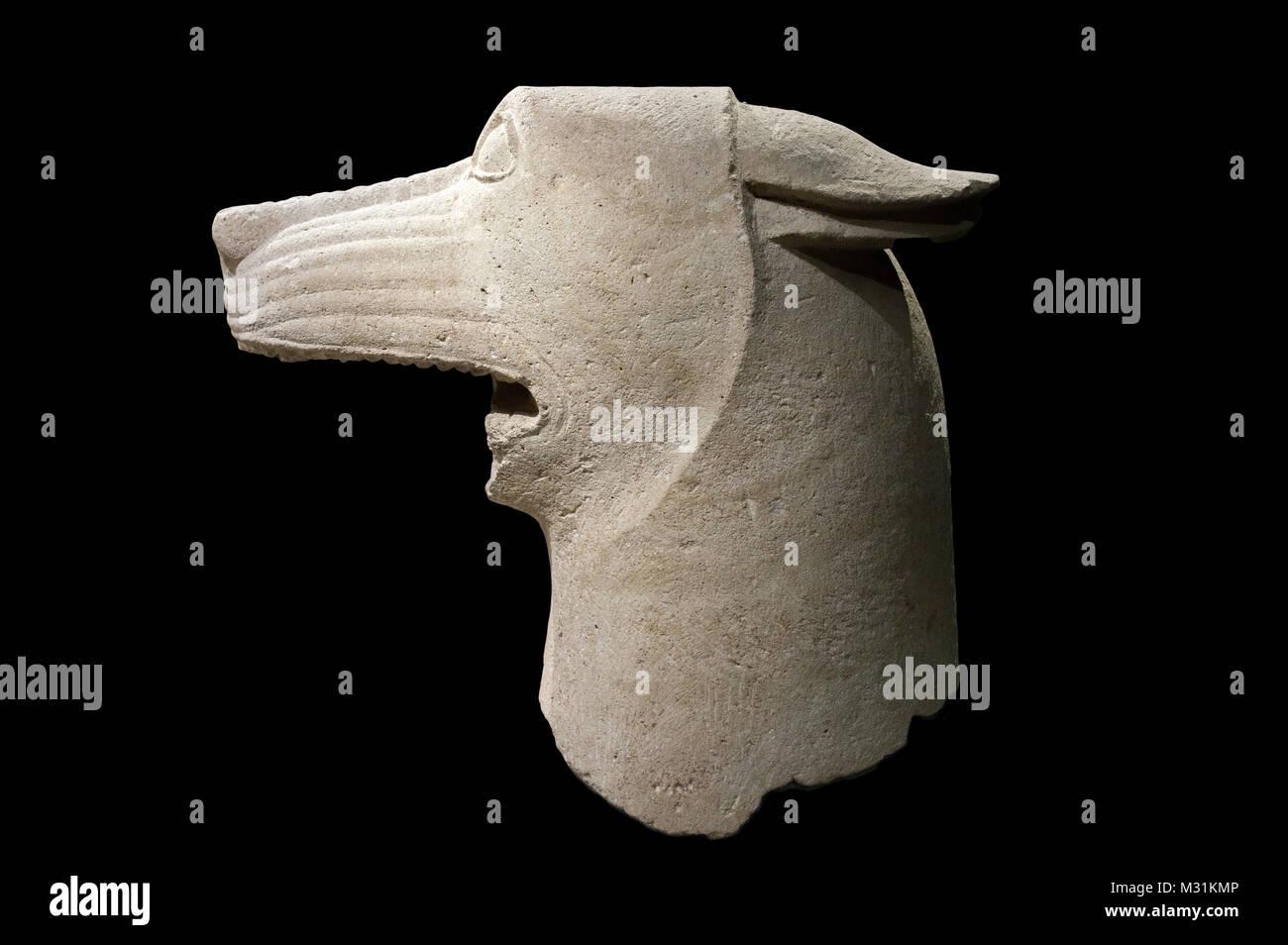 Jaen, Spain - December 29th, 2017: Wolf's head of Heroic Shrine of El Pajarillo, Huelma, Jaén at Iberian - Stock Image