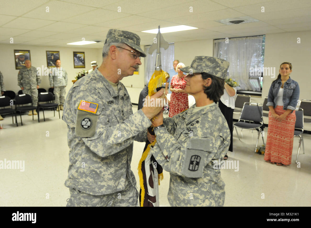 Maj. Gen. Craig A. Bugno, the 807th Medical Command (Deployment Support) commanding general, passes the 139th Medical Stock Photo