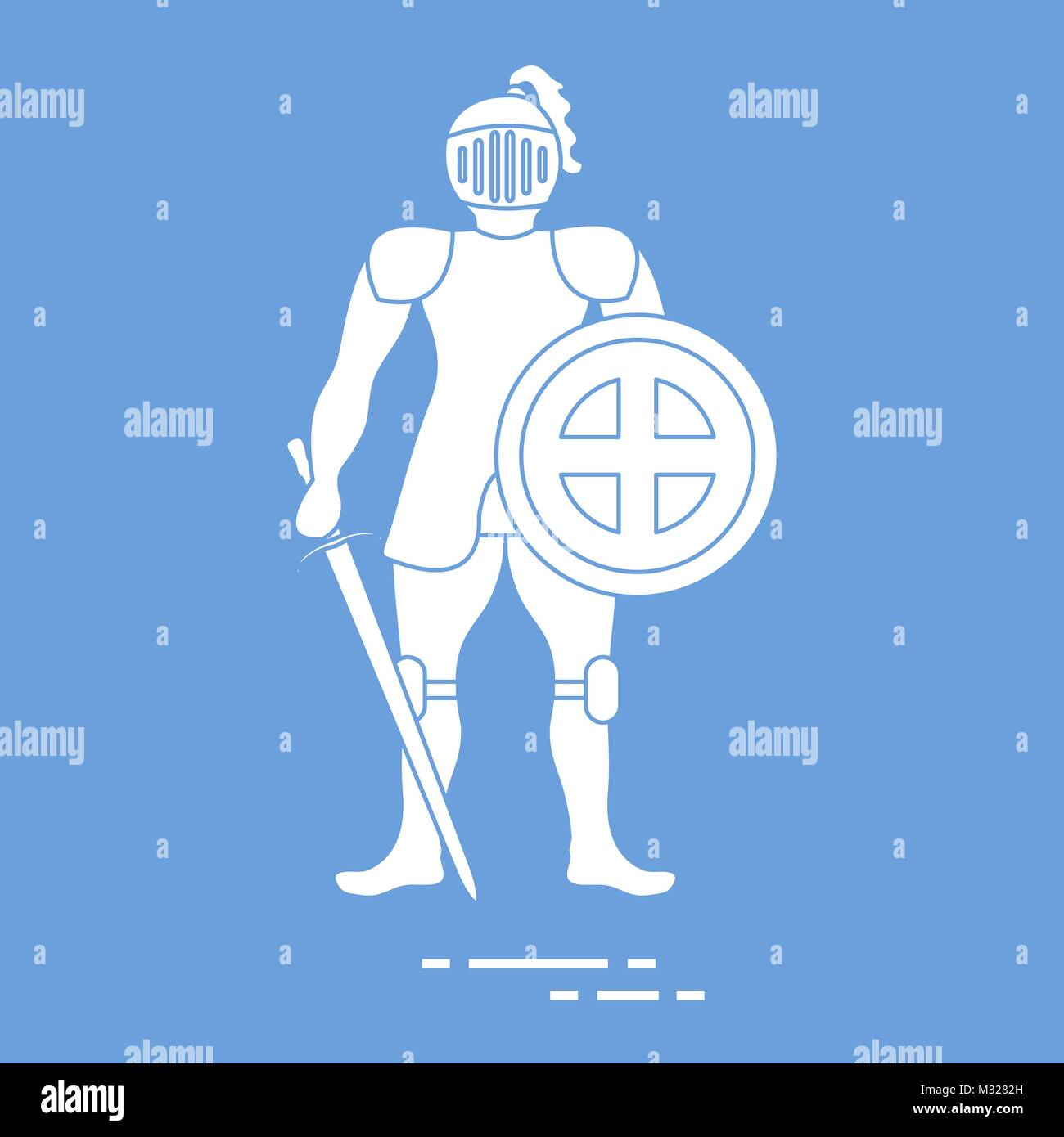 Knight In Armor Stock Vector Images - Alamy