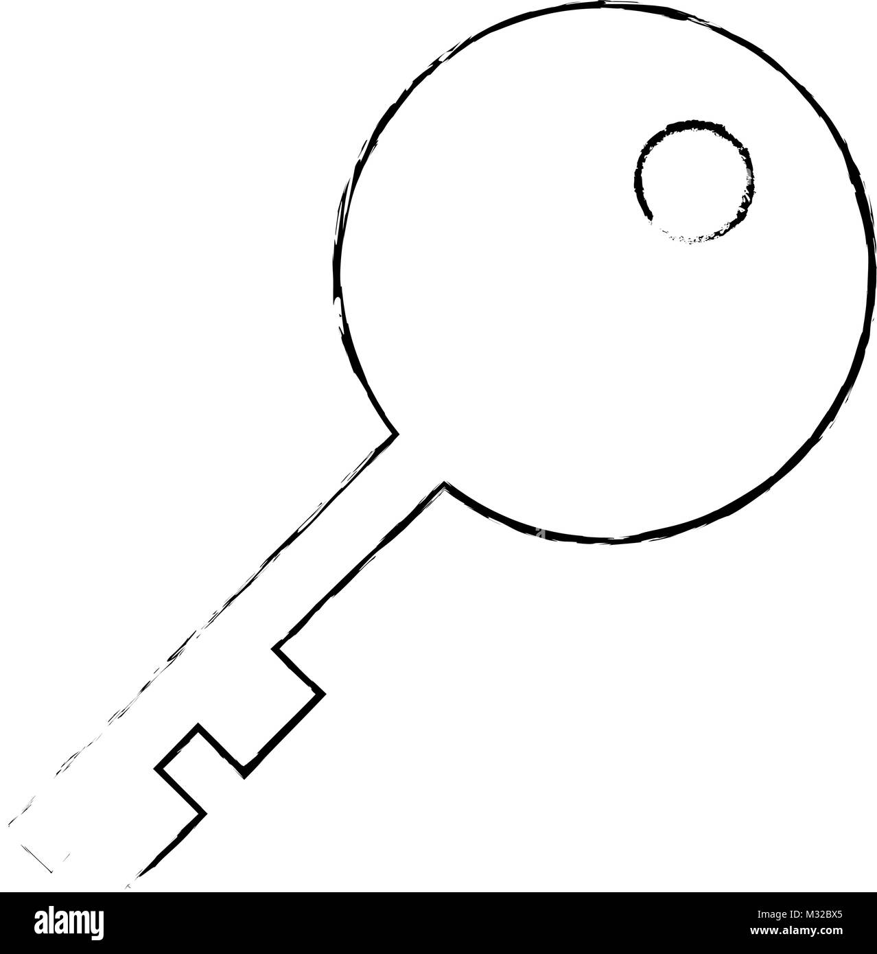 Iron Door Stock Vector Images Alamy Stair Diagram House Of Forgings Part Key Isolated Icon