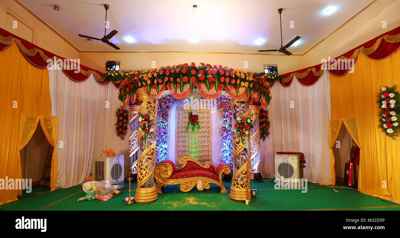 in reception wedding decorations decor hyderabad stage and hyderababd flower decorators
