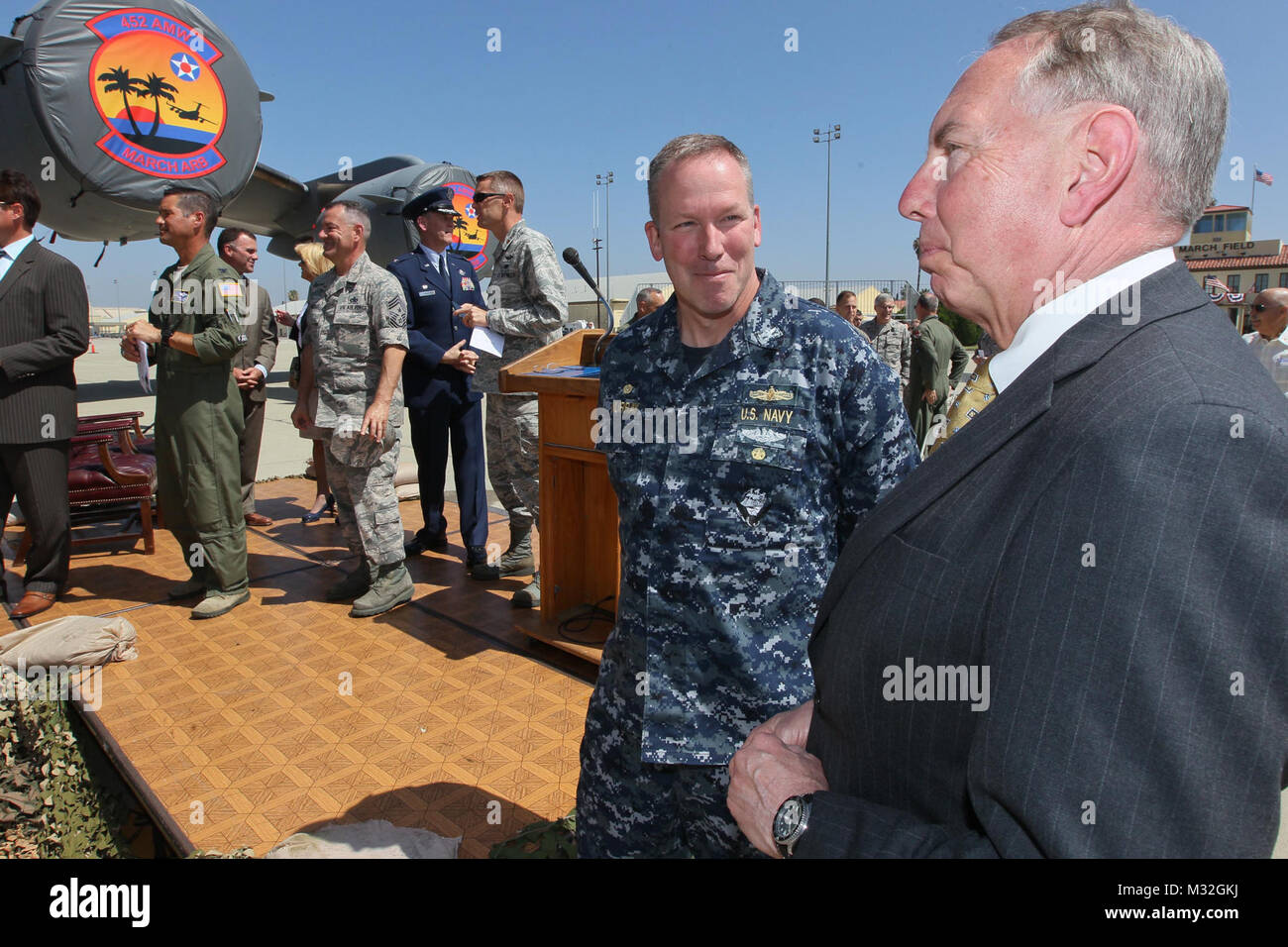 150811-N-HW977-463 MARCH AIR RESERVE BASE, Calif. (Aug. 11, 2015) State Senator Richard Roth, 31st Senate District - Stock Image