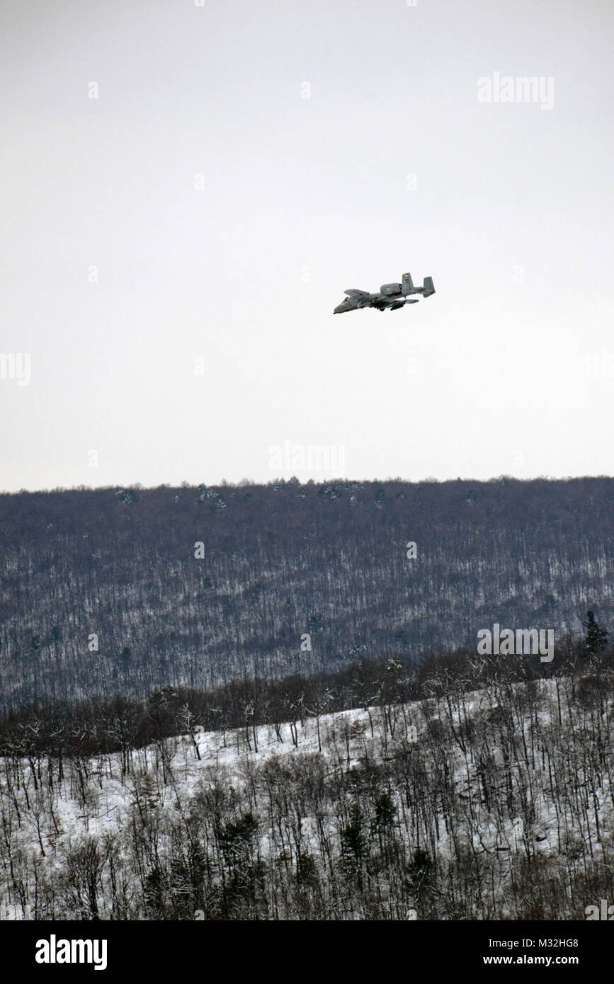 A-10s train at PNG's Bollen Range at Fort Indiantown Gap by PANationalGuard - Stock Image