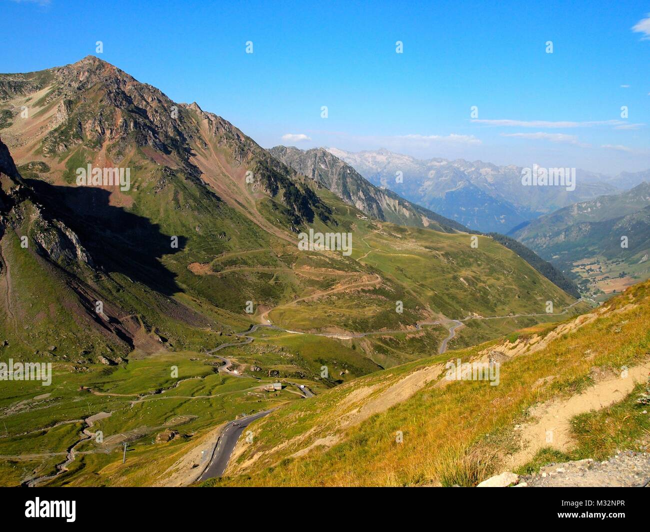 A view from Col du Tourmalet, Pyrenees Stock Photo