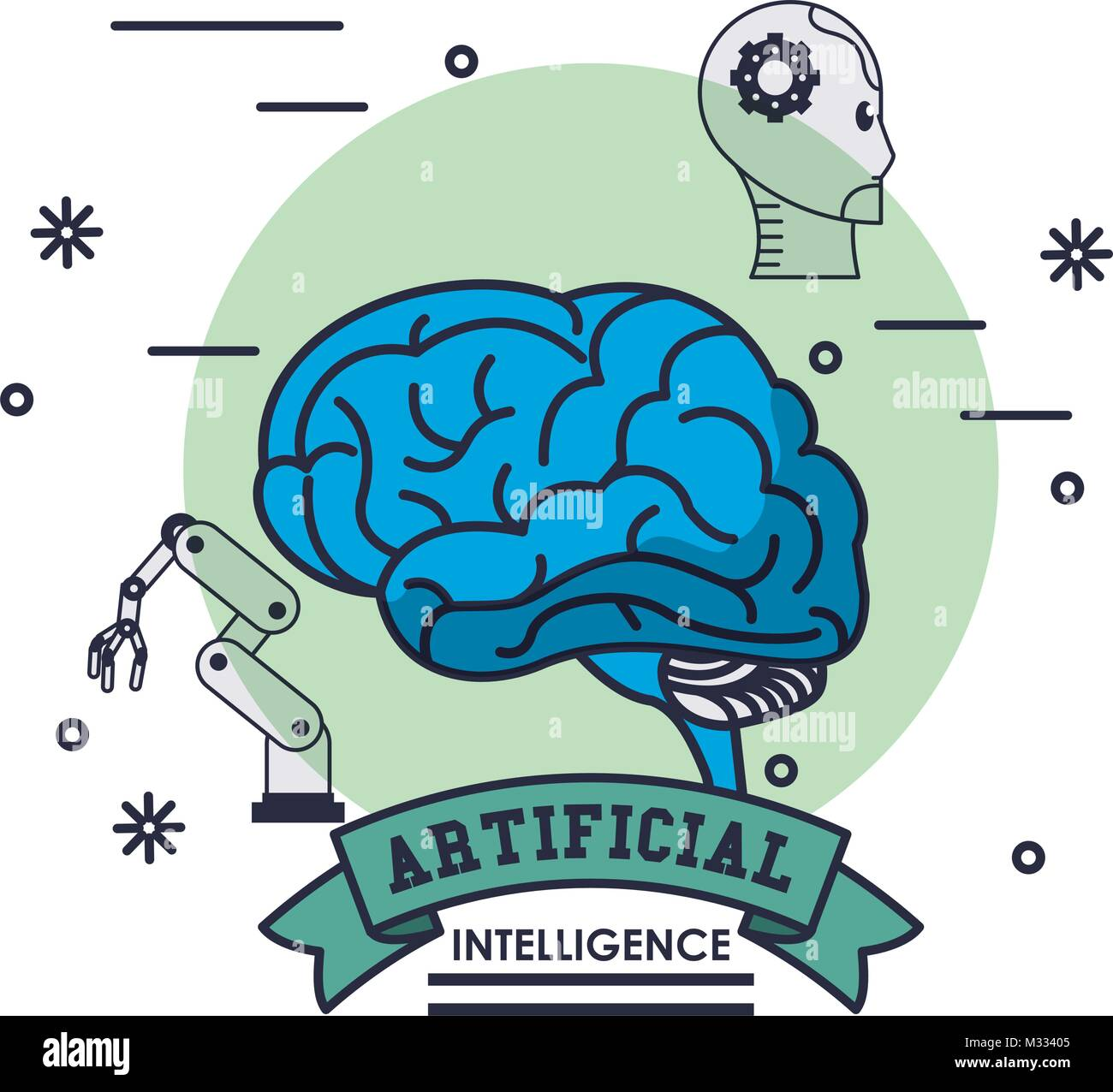 Artificial intelligence technology Stock Vector