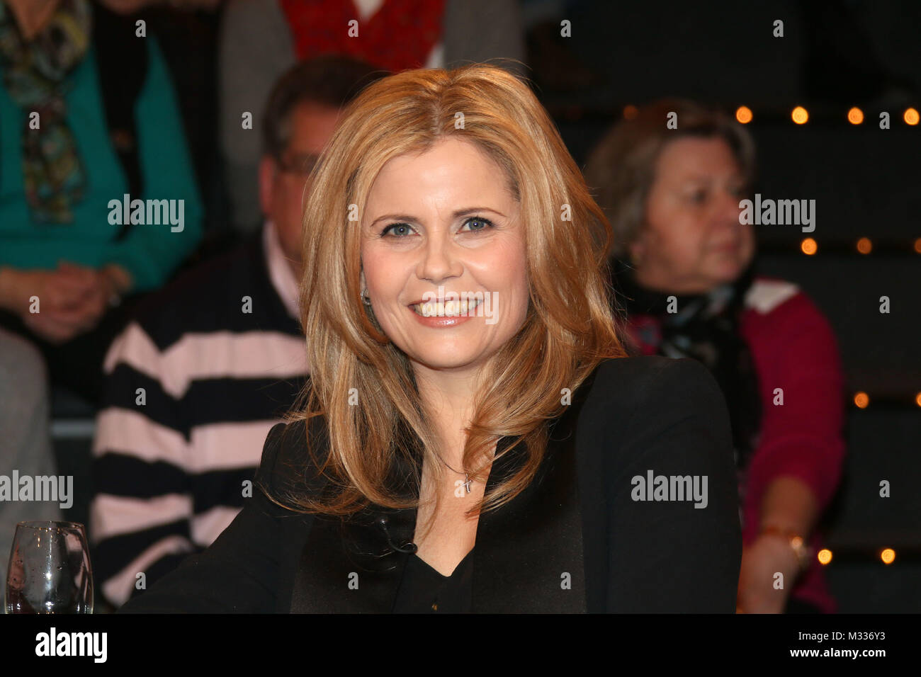 Michaela Schaffrath (Schauspielerin), Lanz, Aufzeichnung vom 22.01.2014, Hamburg Stock Photo