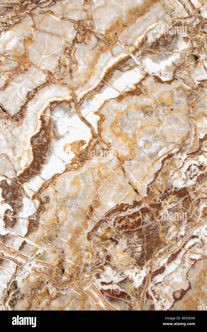 earth tone marble slab background - Stock Image