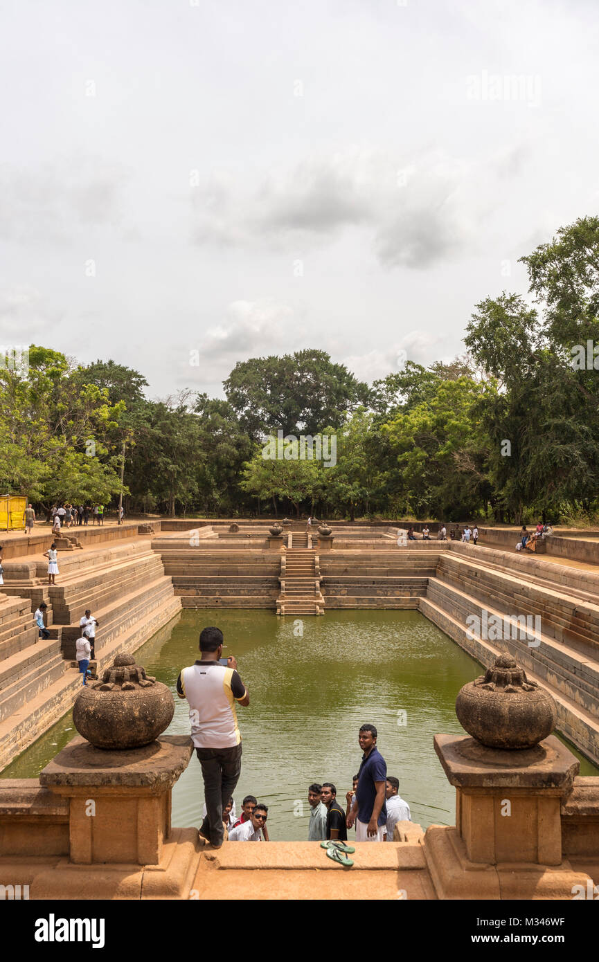 Anuradhapura, Sri Lanka,Kuttam Pokuna (twin ponds) Stock Photo