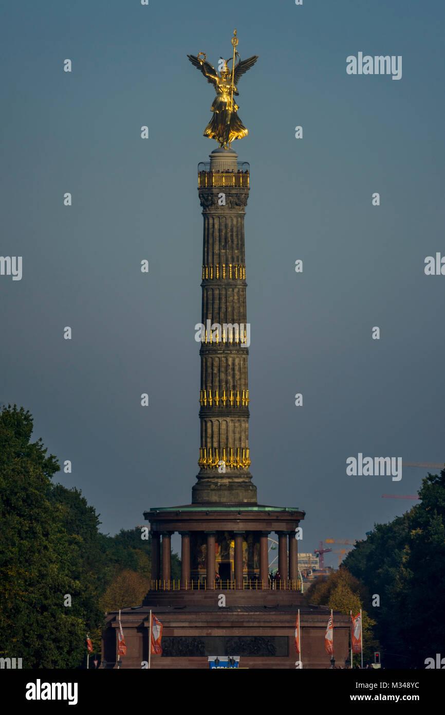 Berlin Victory Column in Tiergarten, Berlin 2017. - Stock Image