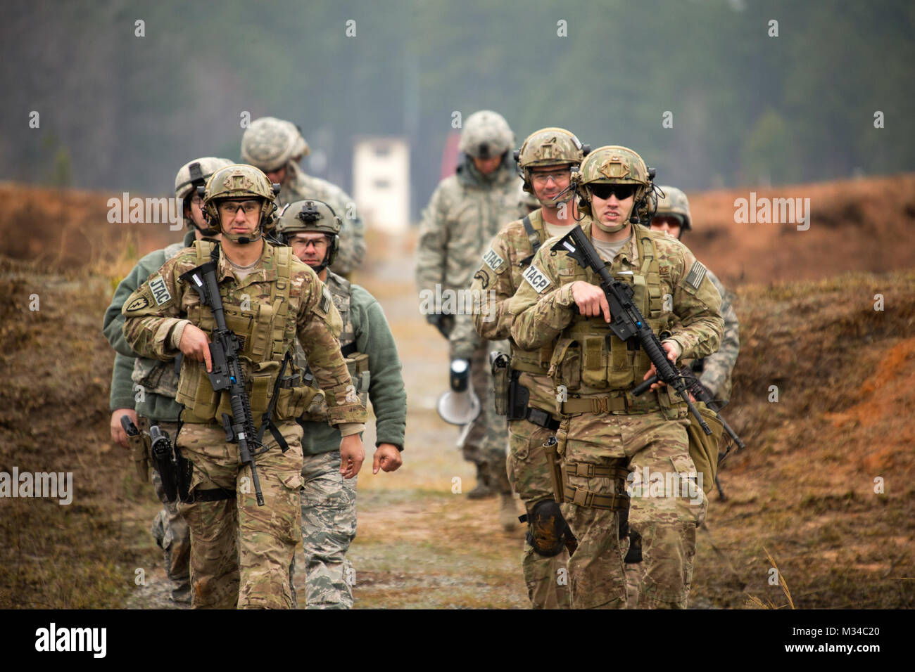 GEORGIA GARRISON TRAINING CENTER, Ft. Stewart, Ga. 28 Feb 2015 – The Georgia National Guard's 2015 Andrew Sullens - Stock Image