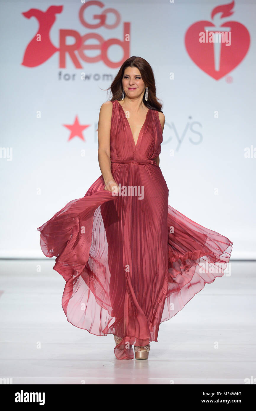 New York, USA. 8th Feb, 2018. Marisa Tomei walks the runway during the American Heart Association's Go Red For Women Stock Photo