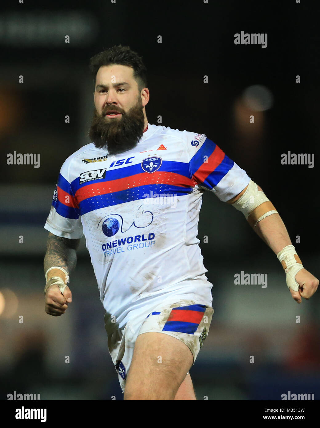 Craig Huby of Wakefield Trinity during the Betfred Super League Round 2 Wakefield versus Salford Red Devils 09/02/2018 - Stock Image