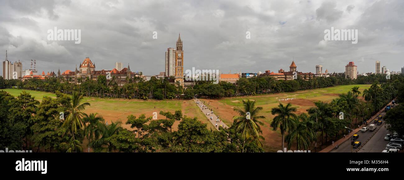 Oval maidan, Mumbai, Maharashtra, India, Asia - Stock Image