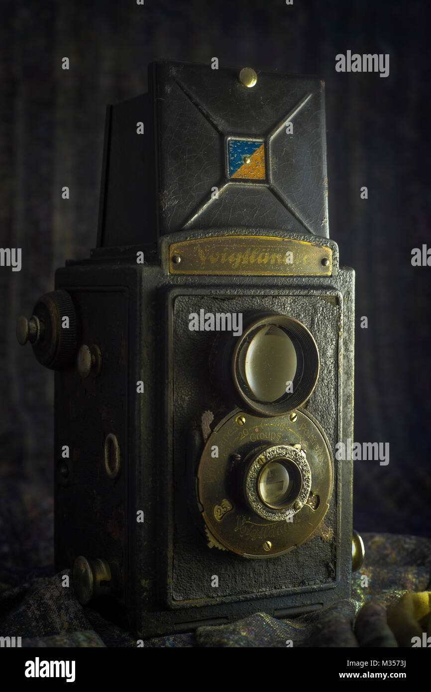 Voigtländer Brilliant 1949 camera 120 square format, India, Asia - Stock Image