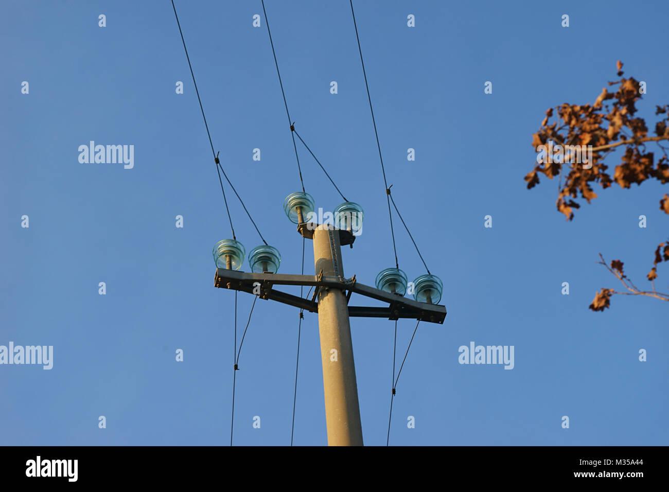 telephon pole - Stock Image